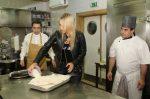 Elena Vesnina în bucătărie