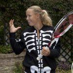 """Caroline Wozniacki, în rol de """"schelet ambulant"""""""