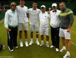 FOTO: Novak Djokovic şi Milos Raonic după antrenamentul efectuat împreună la Wimbledon