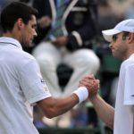 Victor Hănescu şi Andy Roddick la Wimbledon