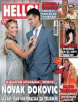 FOTO: Novak Djokovic şi Jelena Ristic pe coperta revistei Hello din Serbia