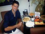 FOTOGALERIE: Novak Djokovic a postat imagini din culise de la Conan O'Brien Show