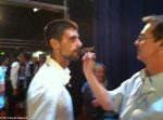 Novak Djokovic, machiat înainte de emisiunea lui Jay Leno