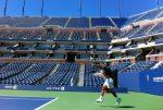 POZA ZILEI, 23 august 2011: Rafael Nadal, primul antrenament la New York