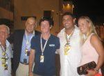 FOTO: Caroline Wozniacki şi iubitul ei, Rory McIlroy, alături de Ronaldo la Abu Dhabi