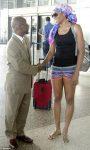 Venus Williams la sosirea in Barbados