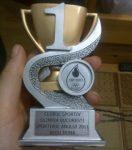Trofeul primit este personalizat cu numele Irinei Begu
