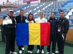 POZA ZILEI, 31 ianuarie: Echipa de Fed Cup a României cu tricolorul în Israel