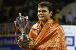 FOTOGALERIE: Milos Raonic cu trofeul cucerit la Chennai după finala cu Tipsarevic