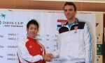 FOTO: David şi Goliat, interpretaţi de Nishikori şi Karlovic în Cupa Davis!