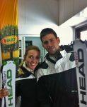 Novak Djokovic cu iubita la schi in statiunea Kapaonik