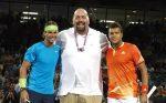 FOTO: Ce pitici par Nadal și Tsonga pe lângă luptătorul de wrestling Big Show!