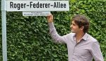 FOTOGALERIE: Roger Federer a inaugurat, la Halle, aleea care îi poartă numele