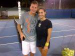 FOTO: Vă era dor de Andrei Pavel? Iată-l alături de Tamira Paszek după antrenamentul de aseară