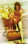 Sorana Cirstea la 1 an, alaturi de mama, Liliana, la prima vacanta la mare
