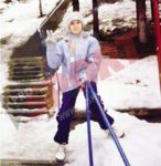 Sorana Cirstea la 7 ani, dupa un concurs de schi