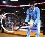 FOTOGALERIE: Novak Djokovic a asistat la un meci disputat de Miami Heat în NBA