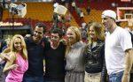 FOTO: Caroline Wozniacki s-a întâlnit cu Vladimir Klitschko la meciul Miami Heat
