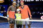 FOTOGALERIE: Imagini din victoria lui Nadal în faţa lui Federer la Australian Open