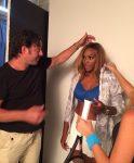FOTO: Serena Williams la filmările reclamei pentru sutienele Berlei