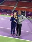 POZA ZILEI, 17 februarie 2014: Simona Halep și antrenorul ei, Wim Fissette, după senzaționala victorie de la Doha