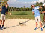 FOTO: Novak Djokovic a jucat golf cu Victor Troicki la Miami