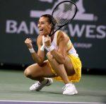 POZA ZILEI, 15 martie 2014: Flavia Pennetta după calificarea în finala de la Indian Wells