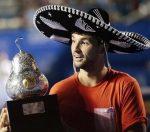 POZA ZILEI, 3 martie 2014: Grigor Dimitrov cu sombrero după titlul cucerit la Acapulco
