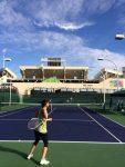 FOTO: Sorana Cîrstea, la antrenament la Indian Wells