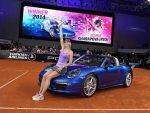 FOTOGALERIE: Maria Sharapova cu trofeul de la Stuttgart și noul Porsche câștigat