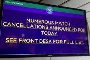 Anuntul amanarii meciurilor din centrul de presa de la Wimbledon