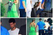 Novak Djokovic și sotia sa, Jelena, la plecarea din Belgrad