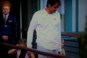 Roger Federer, de mana cu gemenele