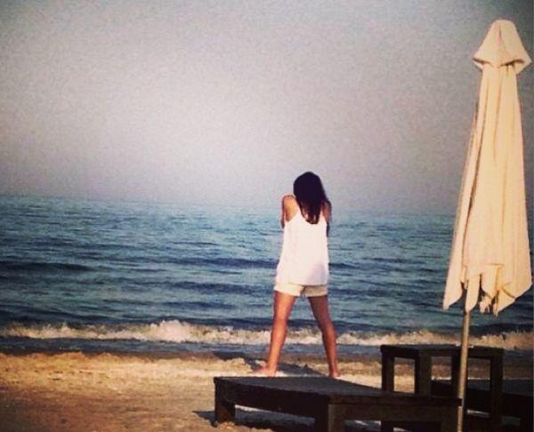 Sorana Cirstea pe plaja