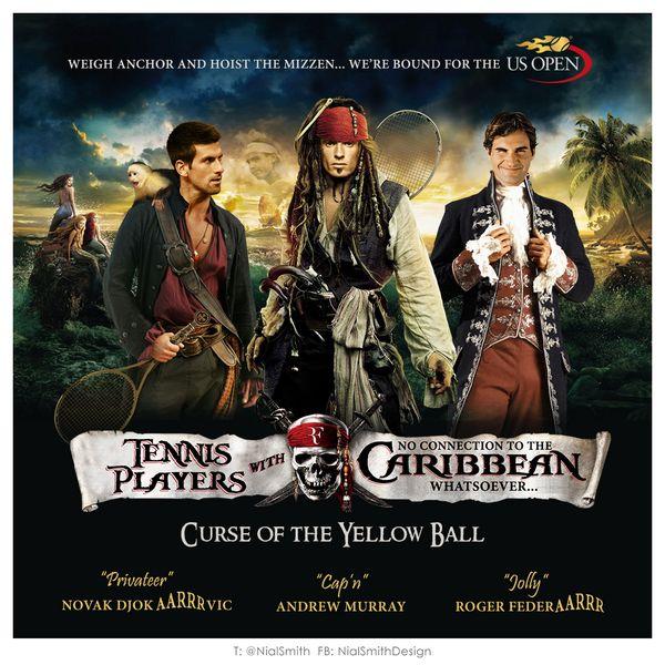 Djokovic, Murray si Federer, piratii din Caraibe