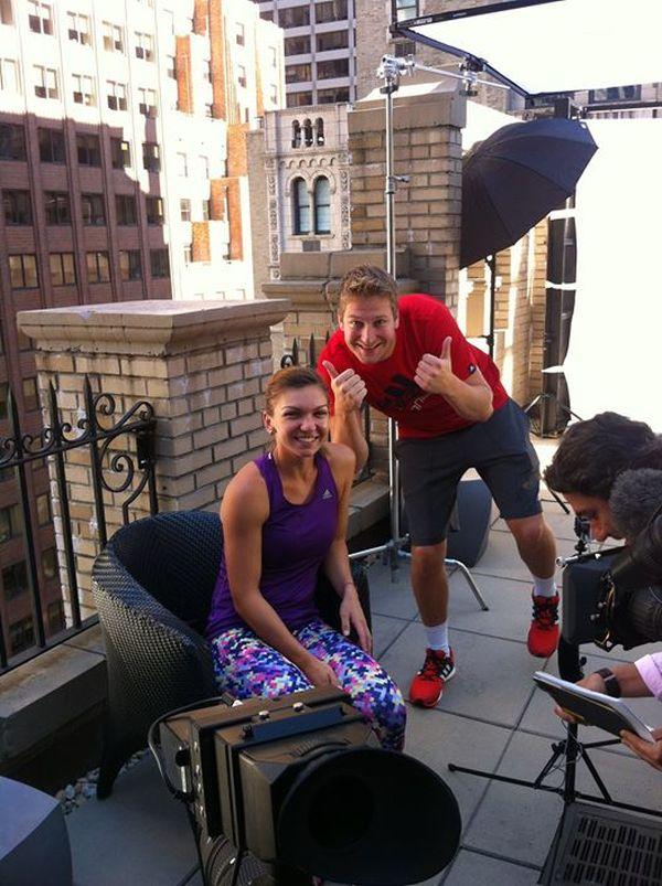 Simona Halep, la sedinta foto facuta pentru Adidas la New York