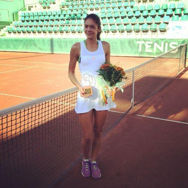 Andreea Mitu trofeu campioana itf Mamaia