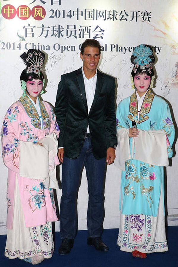 Rafael Nadal, players party Beijing 2014