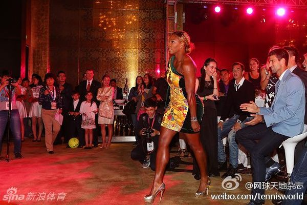 Serena Williams, players party Beijing 2014
