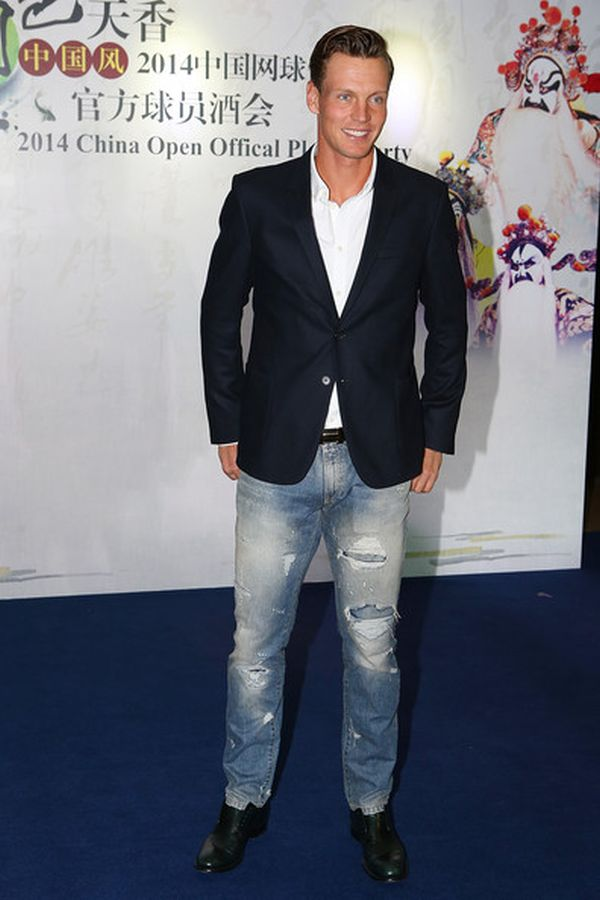 Tomas Berdych, players party Beijing 2014