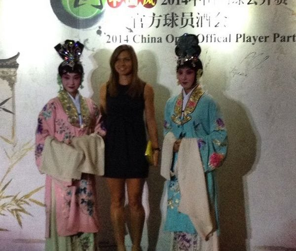 Simona Halep, intampinata traditional la players party WTA Beijing 2014