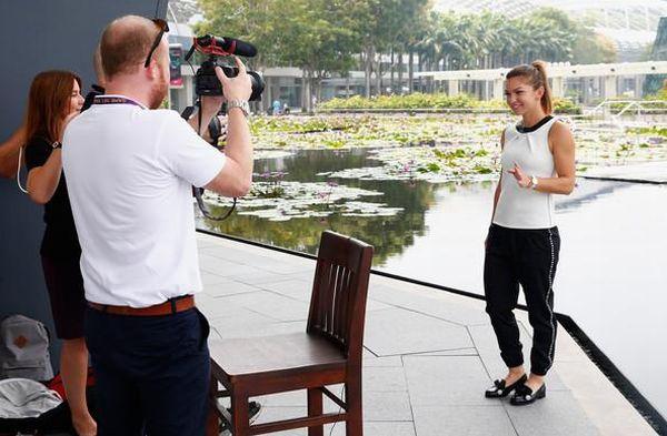 Simona Halep la Singapore