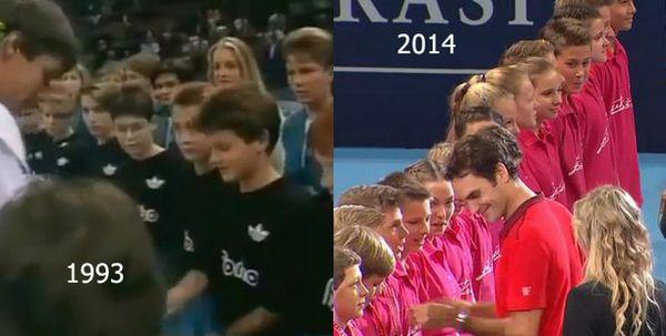 Federer 1993 si 2014