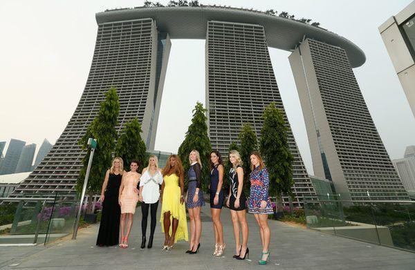 Halep, Serena, Sharapova, Kvitova, Wozniacki, Ivanovic WTA Finals Singapore
