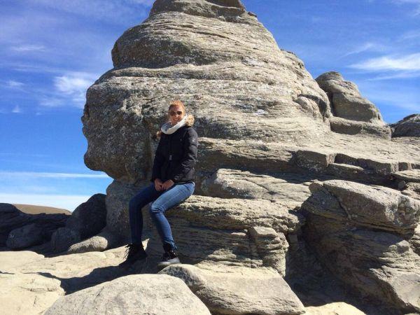 Irina Begu in vacanta la Sfinx