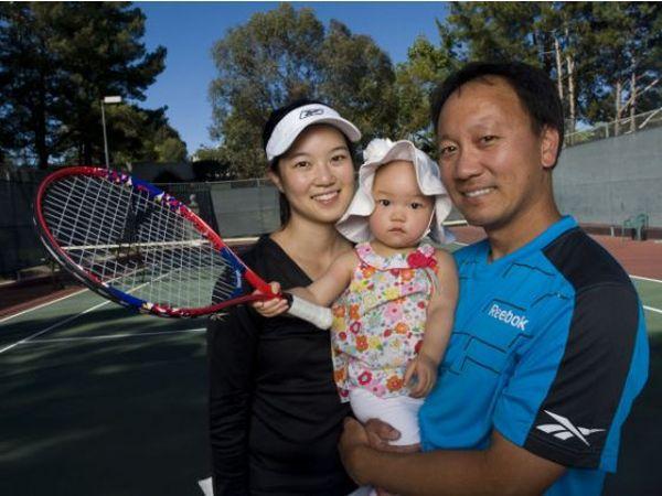 Michael Chang si fiica sa