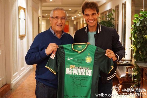 Rafael Nadal si antrenorul echipei Beijing Gouan
