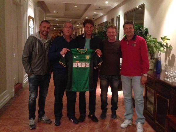 Rafael Nadal a primit tricoul echipei Beijing Gouan