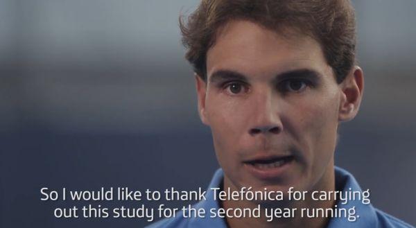 Rafael Nadal in reclama Telefonica