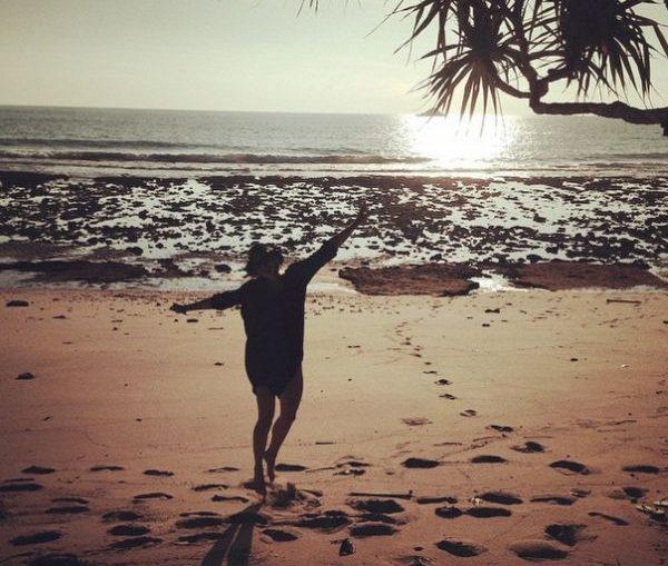 Maria Sharapova la plaja
